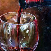 Картины и панно ручной работы. Ярмарка Мастеров - ручная работа Льющееся вино. Handmade.