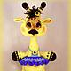 Игрушки животные, ручной работы. Ярмарка Мастеров - ручная работа. Купить Жирафик Жирафетта. Handmade. Жираф, 8 марта