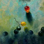 Картины и панно ручной работы. Ярмарка Мастеров - ручная работа Картина маслом на холсте с виноградом современная живопись мастихином. Handmade.