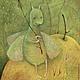 Фантазийные сюжеты ручной работы. Ярмарка Мастеров - ручная работа. Купить Птица-Моль... Картина- принт на холсте.. Handmade. Оливковый
