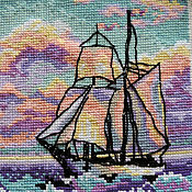 Картины и панно ручной работы. Ярмарка Мастеров - ручная работа Корабль в ярких красках моря. Handmade.