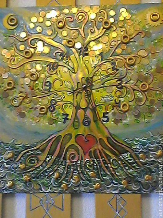 Часы `Денежное дерево` от Лиры Феникс