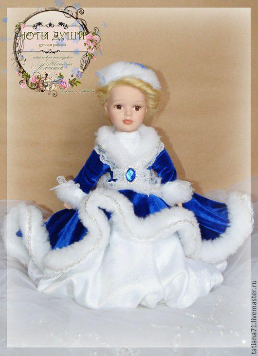 Сказочные персонажи ручной работы. Ярмарка Мастеров - ручная работа. Купить Снегурочка. Handmade. Тёмно-синий, кукла керамика, жемчуг