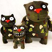 Сувениры и подарки handmade. Livemaster - original item And when we will be given flamethrowers? Red cats Vasi Lozhkina, soft toy. Handmade.