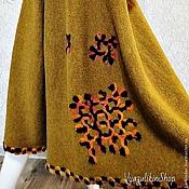 """Одежда ручной работы. Ярмарка Мастеров - ручная работа Вязаная длинная юбка """"Горчица в заплатках"""". Handmade."""