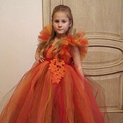 Работы для детей, ручной работы. Ярмарка Мастеров - ручная работа Эксклюзивное осеннее платье. Handmade.