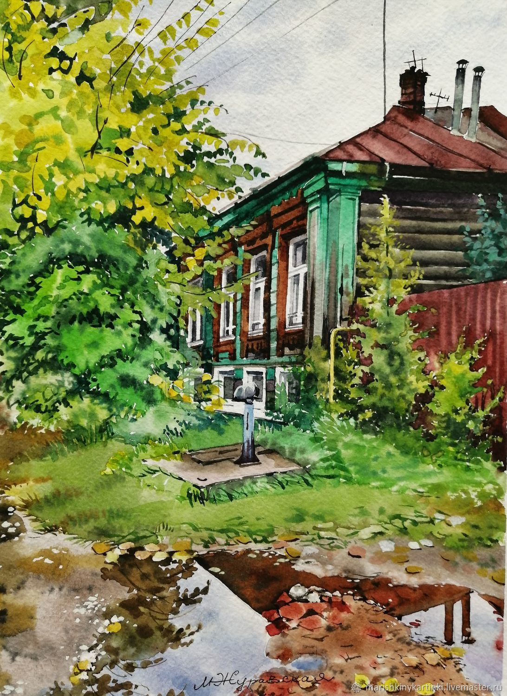 Акварель Осень близко! Дождь прошел!, Картины, Шуя,  Фото №1