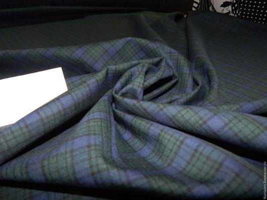 Шитье ручной работы. Ярмарка Мастеров - ручная работа. Купить 1,63 м. Итальянская костюмная ткань Клетка. Handmade.