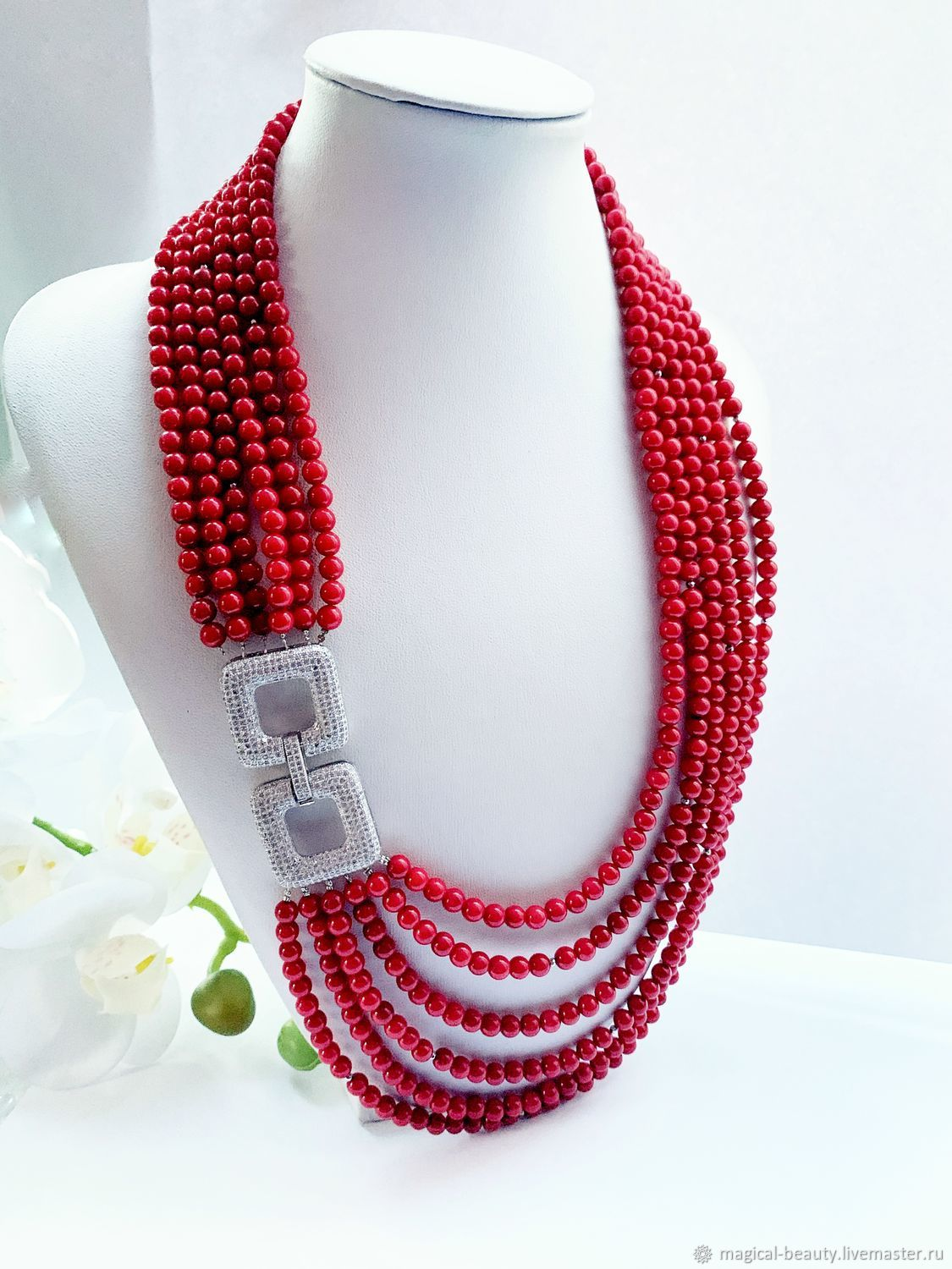 Coral necklace 'Coral Wedding», Necklace, Moscow,  Фото №1