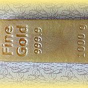 Косметика ручной работы. Ярмарка Мастеров - ручная работа Мыло Слиток золота. Handmade.