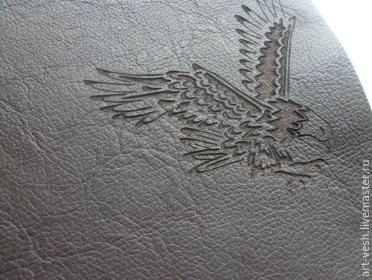 Обложка для паспорта Орел 2. Кожаная обложка на паспорт. подарок на 23 февраля