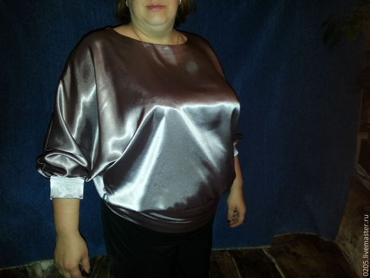 Блузки ручной работы. Ярмарка Мастеров - ручная работа. Купить Блуза Сталь (продано). Handmade. Серый, нарядная блузка