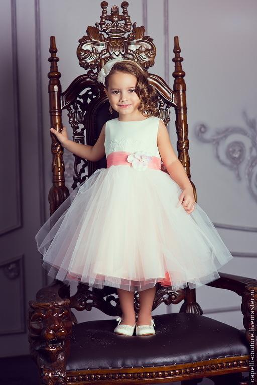 5919f2f9e58 Пион нарядное платье для девочки – купить в интернет-магазине на ...