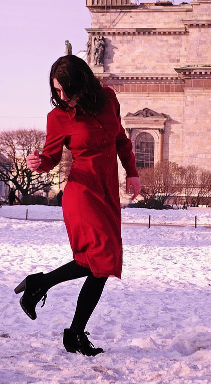 Платья ручной работы. Ярмарка Мастеров - ручная работа. Купить Красное платье-рубашка. Handmade. Красное платье, платье из шерсти