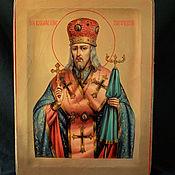 Картины и панно handmade. Livemaster - original item Icon of Joasaph of Belgorod. Handmade.