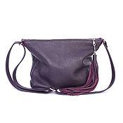 Сумки и аксессуары handmade. Livemaster - original item Soft bag with shoulder strap - Purple bag - Crossbody. Handmade.