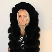 Одежда handmade. Livemaster - original item Fur vest from the Scandinavian Arctic Fox. Handmade.