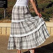 Одежда ручной работы. Ярмарка Мастеров - ручная работа Платье- бандо в клетку и с кружевом. Handmade.