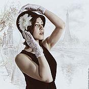 Аксессуары ручной работы. Ярмарка Мастеров - ручная работа Фетровая шляпка клош Мечты о Париже. Handmade.