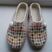 """Обувь ручной работы. Ярмарка Мастеров - ручная работа валяные тапочки """" ммдемс"""". Handmade."""