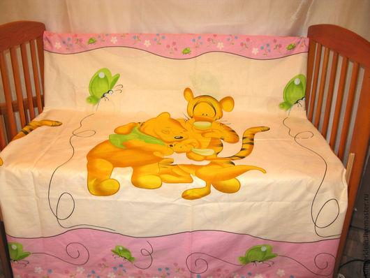 """Для новорожденных, ручной работы. Ярмарка Мастеров - ручная работа. Купить Комплект постельного белья """" Винни""""-панно. Handmade."""