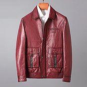 Мужская одежда handmade. Livemaster - original item Men`s jacket, made of genuine calfskin, in red!. Handmade.