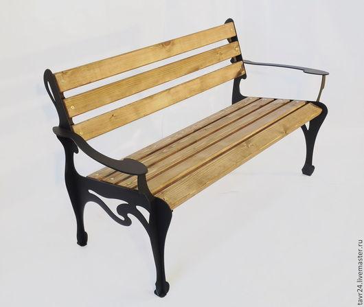 """Мебель ручной работы. Ярмарка Мастеров - ручная работа. Купить Садовая скамейка """"Модерн120"""". Handmade. Разноцветный, лавка, скамейка для дачи"""