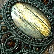 """Украшения ручной работы. Ярмарка Мастеров - ручная работа Браслет  с лабрадоритом """"Весенний лучик"""". Handmade."""