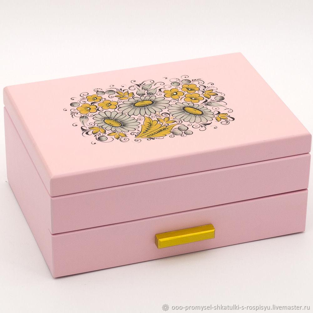 шкатулка с выдвижным ящиком, Хранение украшений, Ковернино,  Фото №1