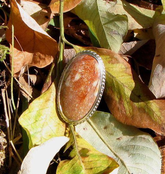 """Кольца ручной работы. Ярмарка Мастеров - ручная работа. Купить Кольцо """"Тёплые краски осени..."""" с натуральным! авантюрином. Handmade."""