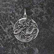 Украшения ручной работы. Ярмарка Мастеров - ручная работа Кулон с Драконом Инь и Янь из серебра 925. Handmade.