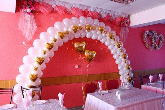 Свадебные аксессуары ручной работы. Ярмарка Мастеров - ручная работа. Купить Арка свадебная из воздушных шаров. Handmade. Арка, молодожены