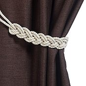 Материалы для творчества handmade. Livemaster - original item Tiebacks White Braid. Handmade.
