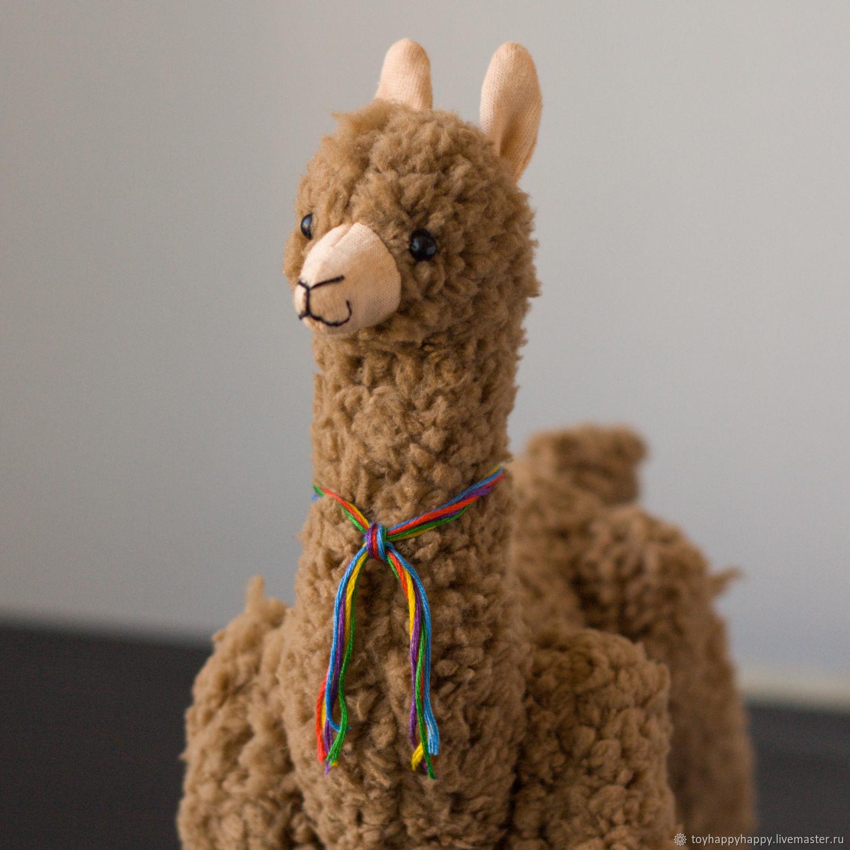 Soft toy Alpaca Lama handmade, Stuffed Toys, St. Petersburg, Фото №1