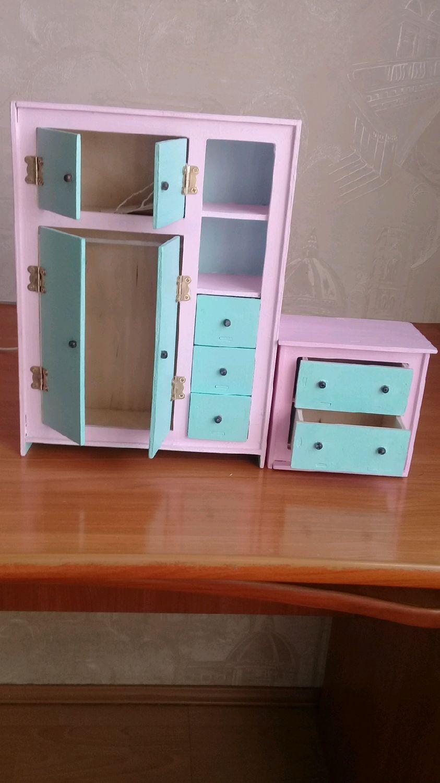 Шкаф для кукол до 30 см, Мебель для кукол, Чита,  Фото №1