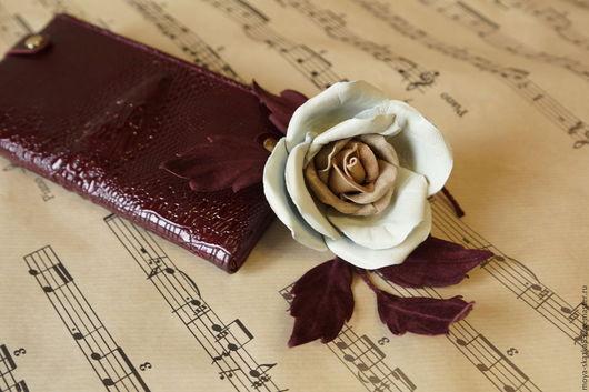 """Цветы ручной работы. Ярмарка Мастеров - ручная работа. Купить Цветы из кожи. Веточка розы """"К осени..."""". Handmade."""