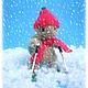 Игрушки животные, ручной работы. Ярмарка Мастеров - ручная работа. Купить черепашка Бориска-лыжник. Handmade. Оливковый, подарок лыжнику
