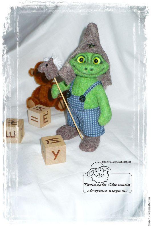Игрушки животные, ручной работы. Ярмарка Мастеров - ручная работа. Купить лягушонок Степан. Handmade. Зеленый, валяная игрушка