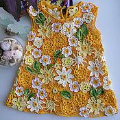 Работы для детей, ручной работы. Ярмарка Мастеров - ручная работа Кружевное вязаное  платьице  Алиса ирландское кружево. Handmade.