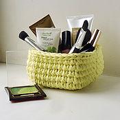 Для дома и интерьера handmade. Livemaster - original item Square basket lemon. Handmade.