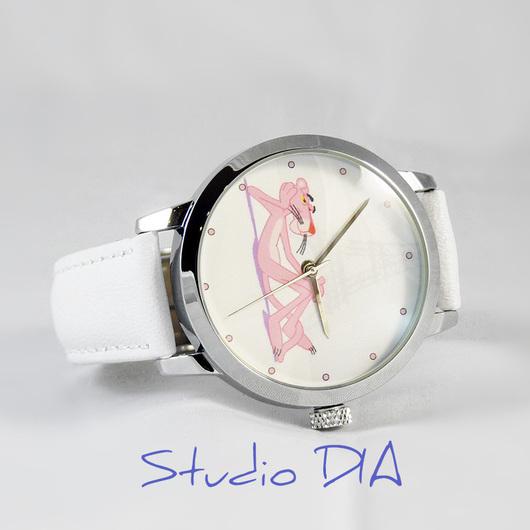 Оригинальные Дизайнерские Наручные Часы Розовая Пантера. Студия Дизайнерских Часов DIA.
