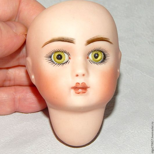 Винтажные куклы и игрушки. Ярмарка Мастеров - ручная работа. Купить FRENCH STEINER Реплика головы к антикварной куколке. Handmade. Бежевый