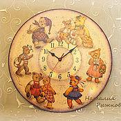 Для дома и интерьера ручной работы. Ярмарка Мастеров - ручная работа часы Мишки Тедди. Handmade.