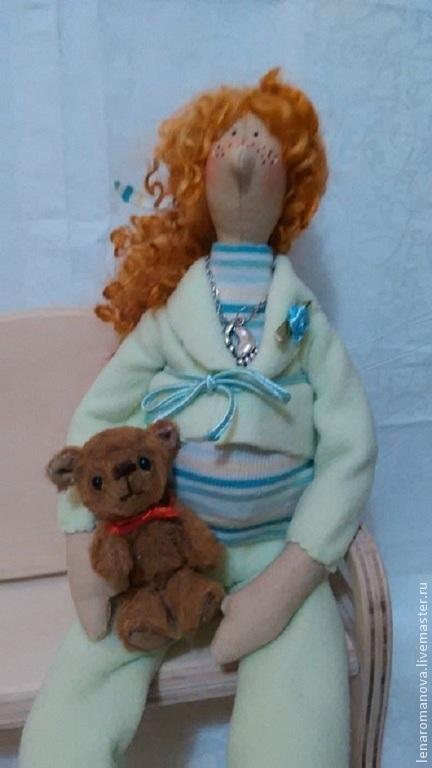 Куклы Тильды ручной работы. Ярмарка Мастеров - ручная работа. Купить ТИЛЬДА КУКЛА -В ОЖИДАНИИ ЧУДА. Handmade. Разноцветный