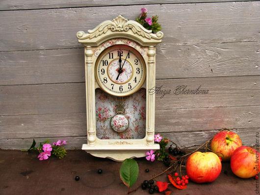 Часы для дома ручной работы. Ярмарка Мастеров - ручная работа. Купить Нежная пора. Handmade. Часы, часы интерьерные