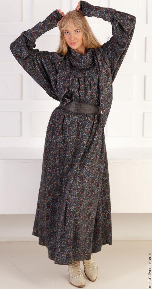 Платья ручной работы. Ярмарка Мастеров - ручная работа. Купить платье длинное Ладушка. Handmade. Платье в пол, митенки длинные
