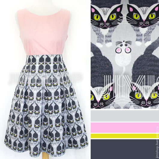 Пример юбки 55см длиной с блузкой