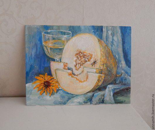 """Натюрморт ручной работы. Ярмарка Мастеров - ручная работа. Купить """"Натюрморт с дыней"""" картина маслом. Handmade. Картина в подарок"""