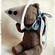 Мишки Тедди ручной работы. Заказать котёнок Фантик. Марианна Пташинская. Ярмарка Мастеров. Котенок, тедди, мохер, авторская выкройка