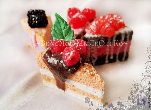 """Мыло ручной работы. Ярмарка Мастеров - ручная работа. Купить Мыло для рук """"Кусочек тортика"""". Handmade. Торт, пирожное, сладкое"""